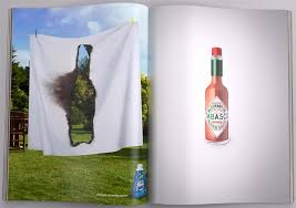 exaggeration archives the big ad demonstrating spicy heat tabasco