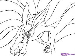 gallery image of spotlight nine tails coloring pages unlimited naruto tailed fox cool drawing book