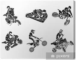 Obraz Motorka Tetování Collection Na Plátně