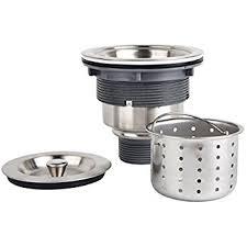 Whitehaus NRNW35ASS 312Inch Basket Strainer With Deep Stainless Steel Kitchen Sink Basket Strainer