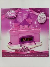 Disney Princess Magical Light Up Alarm Clock Disney Castle Princess Alarm Clock Radio Projects Stars W All 3 Flags And Box