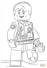 Small Picture Lego Undercover Police Officer coloring page Free Printable