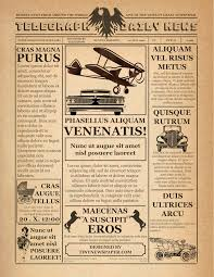 Old Fashion Newspaper Template 1920s Vintage Newspaper Template Word