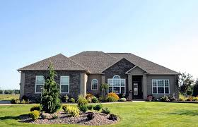 Modern One Story Ranch House One Story House Exterior Design Ideas One Story House