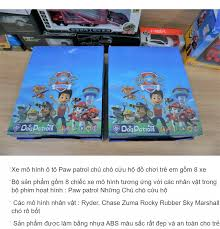 đồ chơi trẻ em mô hình xe ô tô Paw patrol chú chó cứu hộ gồm 8 xe Ryder  Chase Zuma Rocky Rubber Sky Marshall chó rô bốt: Mua bán trực tuyến