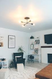 simple diy black pipe light fixture