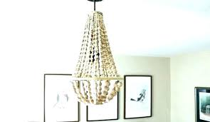 full size of home improvement wood bead chandelier pottery barn i love this made from beads