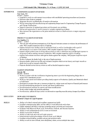 Manufacturing Engineer Resume Sample Liaison Engineer Resume Samples | Velvet Jobs