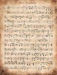 printable vintage sheet music vintage christmas sheet music printable frosty the snowman google