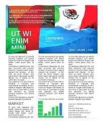 Newsletter Templates Free Word Publisher In Newspaper Template