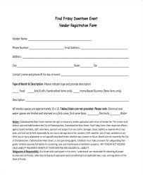 Event Vendor Application Template Agreement Templates Free Fresh