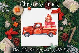 Find & download free graphic resources for christmas tree. Red Truck Graphic By Ksenyaart Creative Fabrica