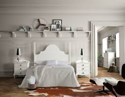 white bedroom furniture white brown cowhide area rug