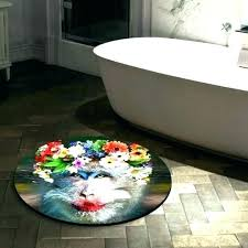 large round bath rugs small round bathroom rugs large