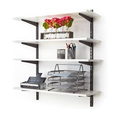black twin slot wall mounted shelving
