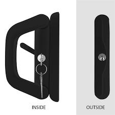 ikonic black double cylinder keyed sliding door lock bunnings warehouse