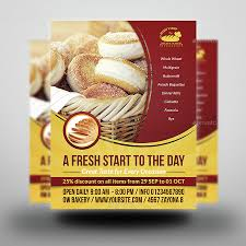 Artisan Bakery Takeout Brochure Template Design. Bakery Food Flyer ...