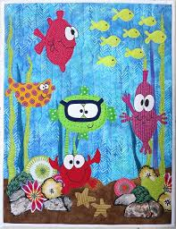 854 best Quilts - Art Quilts images on Pinterest   Bird quilt ... & Under the Sea quilt idea for my soon to be niece.dad is a scuba diver. I  love this might be in order for a new Great grand baby Adamdwight.com