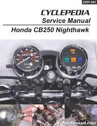 honda cb250 nighthawk cyclepedia printed motorcycle repair manual honda cb250