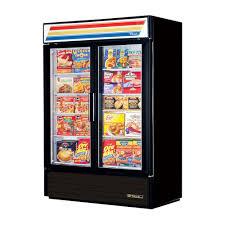 true gdm 49f ld double glass door freezer merchandiser