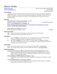 Resume Formats For Engineering Students Resume Format For