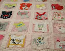 Custom Memory Quilt using baby clothes or old keepsake & Adorable baby clothes keepsake quilt Adamdwight.com
