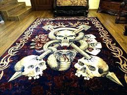 skull cobweb pattern water absorption area rug large rugs