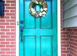 Turquoise front door Paint Colors Turquoise Front Door Front Doors Enchanting Turquoise Front Door For Your Home Turquoise Front Door Turquoise Front Door Sonya Hamilton Designs Turquoise Front Door Dark Teal Front Door What Do You Think About