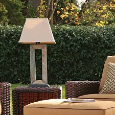 slate outdoor table lamp