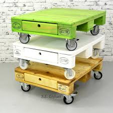 Green Coffee Tables Build Pallet Coffee Table On Wheels