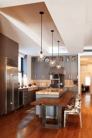 Cutting Board Cabinet Kitchen Spherical Glass Pendant Light With Cutting Board Also