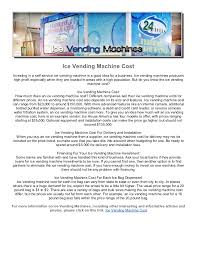 Vending Machine Financing Magnificent Ice Vending Machine Cost