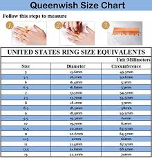 Tungsten Carbide Ring Size Chart Queenwish 8mm Tungsten Carbide Ring Gold Silver Two Tone Wedding Engagement Band For Couples Bridal Jewelry Size 10