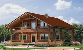 Wooden house plans: Polish wooden house
