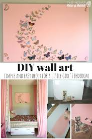 diy wall art 1 on diy little girl wall art with girl bedroom wall art a butterfly and canvas craft our house now