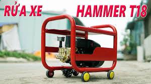 Máy Rửa Xe Gia Đình Hammer T18 Cực Khỏe Xịt Rách Cả Tem Xe Honda - YouTube