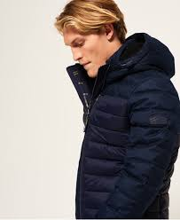 Men's Quilted Jackets | Quilted, Puffer & Padded | Superdry & Fuji Mix Double Zip Hooded Jacket Adamdwight.com
