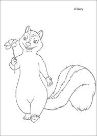 Small Picture Stella the skunk with a flower coloring pages Hellokidscom