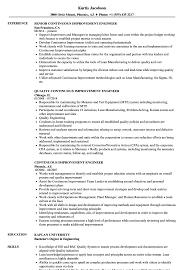 Continuous Improvement Resume Examples Continuous Improvement Engineer Resume Samples Velvet Jobs 1
