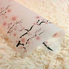 Wax Paper Flower Wholesale Packaging Paper For Handmade Soap Tissue Wax Paper Printed Greaseproof Paper Wintersweet Flower Christmas Wrapping Paper Roll Christmas