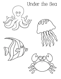 Ocean Activities Free Under The Sea Coloring Pages Perfect For
