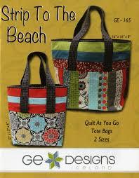 Strip to the Beach Tote Bags | Tote bag & Strip to the Beach Tote Bags. Quilt As You GoBeach ... Adamdwight.com