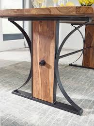 Finebuy Design Esszimmertisch Fb52796 Massiv 200x77x93 Cm Esstisch Sheesham Holz Küchentisch Mit Baumkante Industrial Stil Massivholztisch