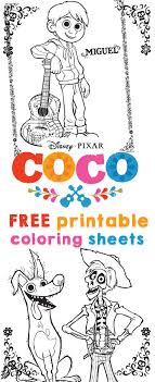But what if your family hates music. Coco Coloring Sheets And Activity Sheets From Disney Pixar