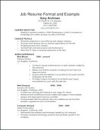 Resume Examples For A Job – Mycola.info