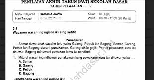 Itulah yang bisa kami bagikan terkait buku sejarah kelas xi erlangga pdf. Soal Ulangan K13 Bahasa Jawa Kelas 3 Semester 2 Sekolahdasar Net