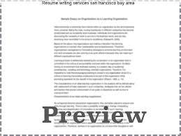 Resume Writing Service San Francisco Sample Ideas