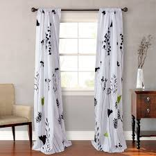 asian lily cotton lined window panels