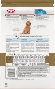 Poodle Feeding Chart Royal Canin Poodle Puppy Dry Dog Food 2 5 Lb Bag