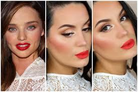 miranda kerr inspired rosy cheeks bold lip spring makeup tutorial collab w readysetglamour you